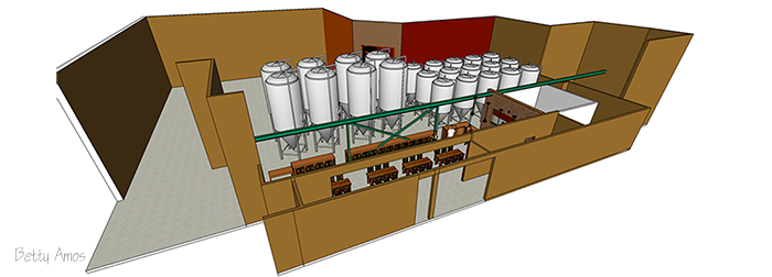 3D Modeling of Beer Bewery
