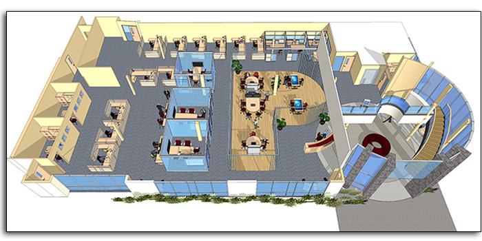 Floor Plan Of Interior Office Remodel